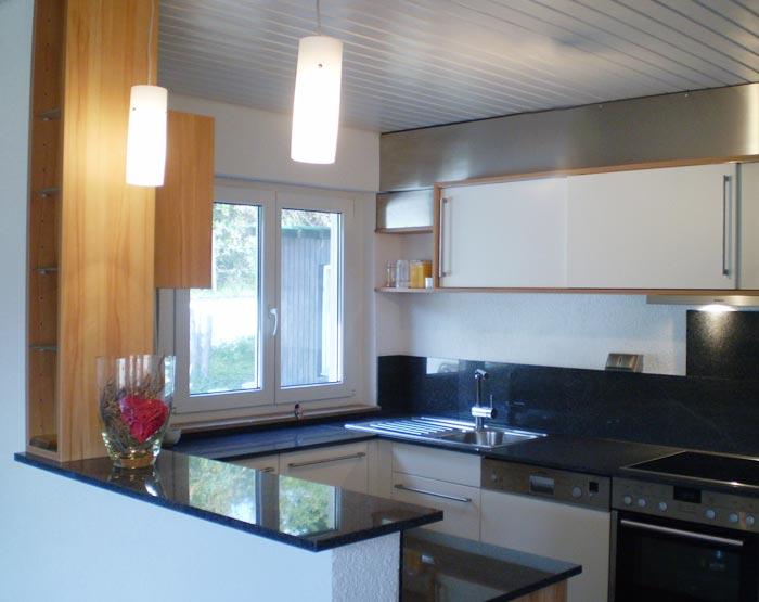 Küche Weiß Granit